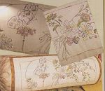 The Butterfly Bolster Cushion using those lovely Cottage Garden Threads.