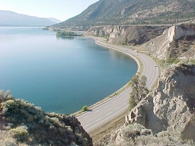 Okanagan Lake, between Penticton and Summerland BC