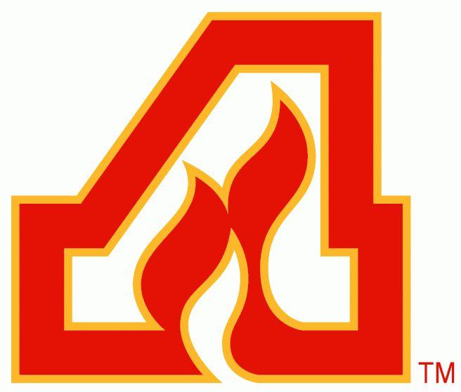 Atlanta Flames primary logo 1972/73 - 1979/80.