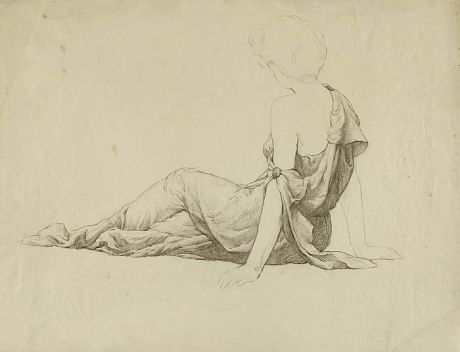 Untitled (Side View Seated Classically Draped Female) by William Chadwick / American Art