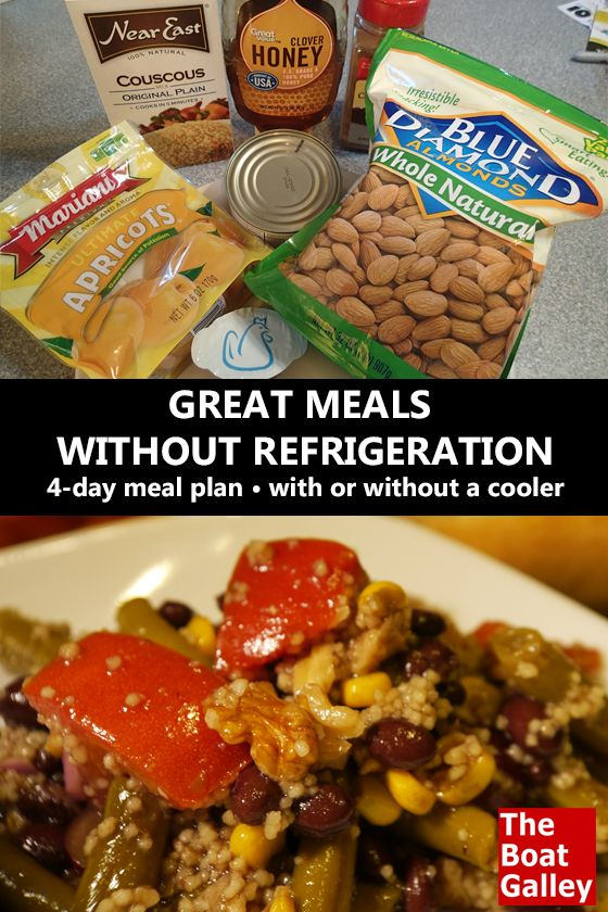 With a little planning you can eat well -- a 4-day meal plan for a trip without refrigeration. via @TheBoatGalley