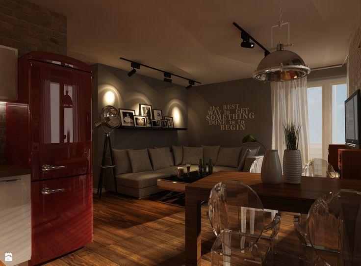 Zdjęcie: Projekt mieszkania w Krakowie - Salon - Styl Nowoczesny - Ciochoń - Studio