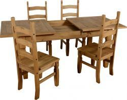 Corona Extending Dining Set (1+4) is the most suitable dining set that classic looks to the room. More details visit our website: http://solidwoodfurniture.co/product-details-corona-mexican-pine--4661-corona-extending-dining-set-.html