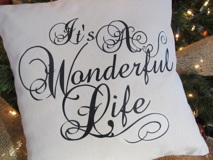 36 best its a wonderful life images on pinterest merry christmas its a wonderful life throw pillow by cedarstreetcreations on etsy 1600 fandeluxe Images