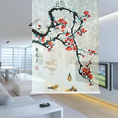 Traditional+Chinese+Painting+Wintersweet+Sheer+Shade+–+AUD+$+35.90