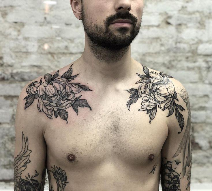 фото эскизов тату для мужчин на ключицу ярким дизайн спальни