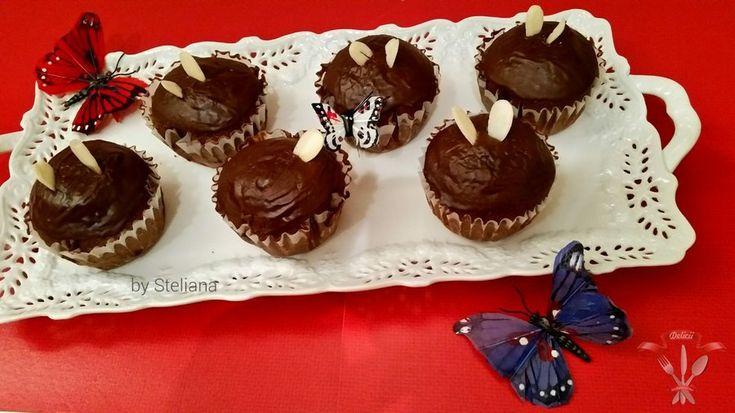 Мини-кексы с шоколадом