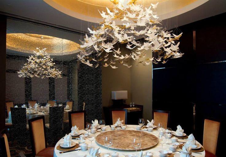 Marina Bay Sands, Singapore. #restaurant #butterflies #lighting #interior #hospitality #design #elegant