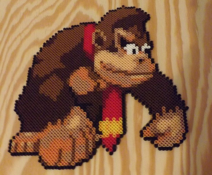 Donkey Kong Perler Beads by kamikazekeeg on deviantART
