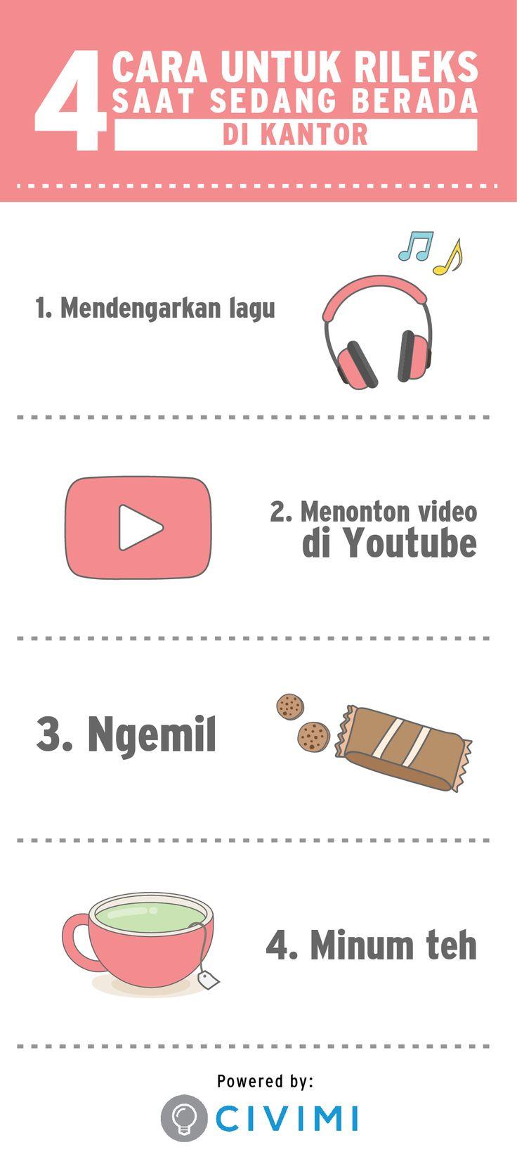 4 Cara untuk Rileks Saat Berada di Kantor (Infographic)