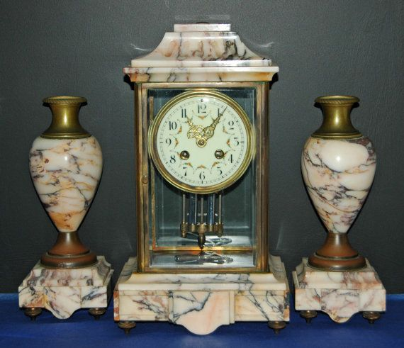 Antique Ca 1900 FRENCH CRYSTAL REGULATOR by Exacta 8 Day Time