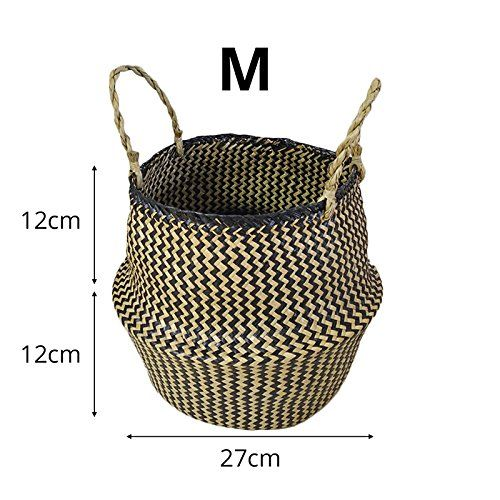 Home Storage Organisation Samber Hand Woven Foldable Plant Flower