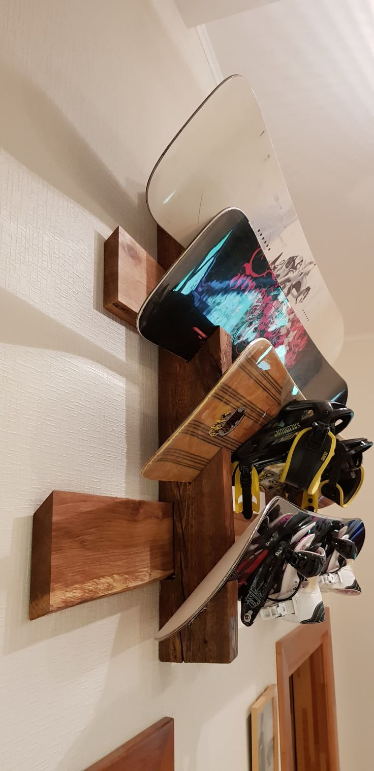 Best 25 snowboard bedroom ideas on pinterest snowboarding snowboard rack from reclaimed rustic wood rewood wanna see more snowboards amipublicfo Image collections