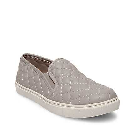 Steve Madden Eccentricq Quilted Slip On for Women in Grey ECCENTRICQ-GREY