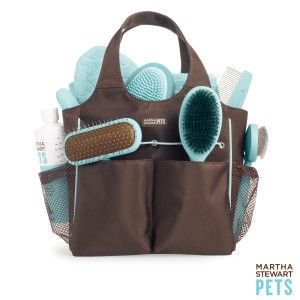 This is ideal for a travel bag or to hand off to the dog sitter! Martha Stewart Pets™ Grooming Tote - PetSmart