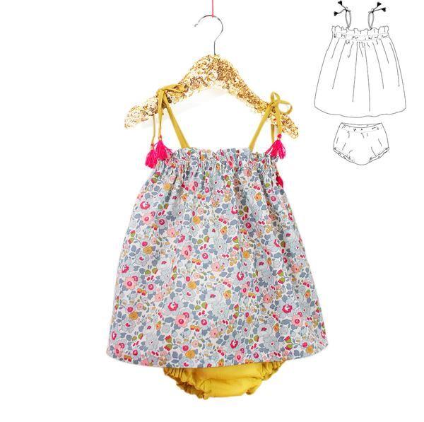 Patron de couture Robe et Bloomer Bébé Fille PORTOFINO – ikatee