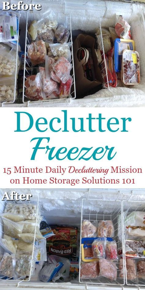 How to #declutter your freezer, including list of freezer storage times to help you know when food should be tossed {part of the #Declutter365 missions on Home Storage Solutions 101} #Decluttering #tipstodeclutteryourhome
