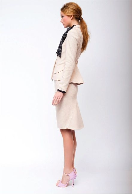 skirt suit from Marissa Webb. Love the shape of it!