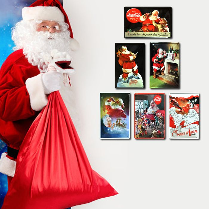 Old Time Santa Claus Painting | painting painted iron decorative painting cartoon figure Santa claus ...