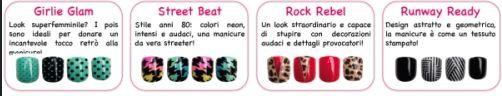 FING'RS: SHOW YOUR STYLE!  Divertenti, uniche, distintive: le unghie artificiali autoadesive Fing'rs Prints creano uno stile che non passa inosservato! Che si preferisca un look romantico, colorato, provocatorio o ultraglam, Fing'rs ha quello che cercate…e voi quale stile preferite?   Per informazioni:  SIMCA www.simca.biz Digital pr a cura di Blu Wom Milano www.bluwom-milano.com 02 87384640 p.fabretti@bluwom-milano.com