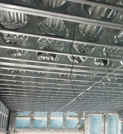Suspended slab MarinoWare steel joist system with 2 concrete