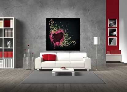Tablou canvas abstract love - cod B20