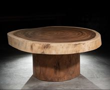 Coffee Table - Suar Trunk, Natural  Find more at www.decord.gr #livingroom #wood #table #coffeetable #sidetable #ethnic #bali #decord