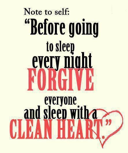 Heavenly Father, Please help me to always have a heart of forgiveness and it is my prayer that I will be forgiven by those I have hurt as well.