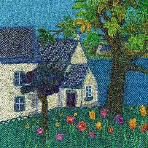 "50 vind-ik-leuks, 4 reacties - Jane Jackson (@brightseedtextiles) op Instagram: '""Harbour Cottage"" My Harris Tweed picture of the lovely little gallery of the same name on the…'"