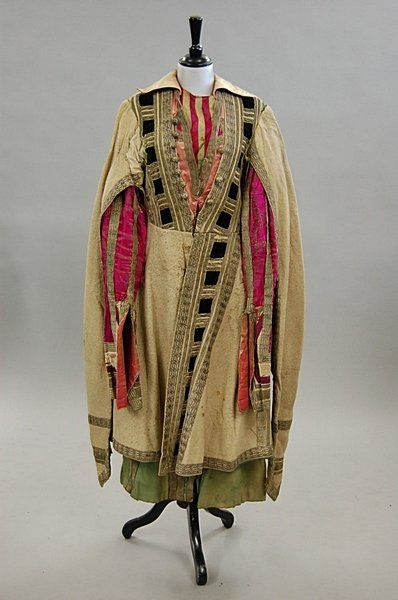 Diaghilev's Ballet Russes - `Thamar' a Lezghin's frock coat designed by Leon Bakst, first performed 1912