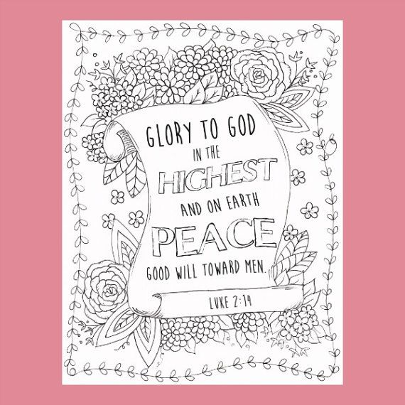 Christian Coloring Page Glory To God Coloring Holiday Christian Coloring Coloring Pages Christmas Coloring Pages