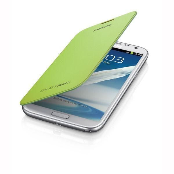 Samsung Galaxy Note II Flip Cover - Lime