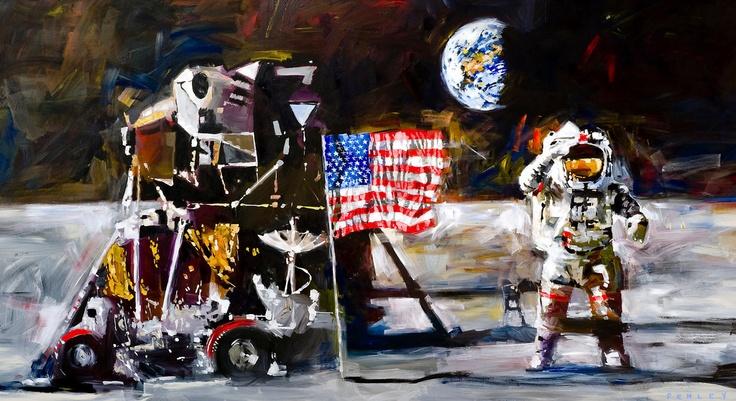 Moon Landing - by Steve PenleyReal Art, Fine Art, Icons, Steve Penley, Artists Talent, Products, Smart Art, Moon Land, Artedu Steve