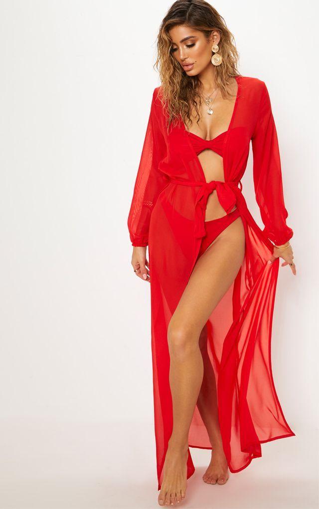 9198e587856f Cobalt Print Satin Kimono Maxi Dress in 2019