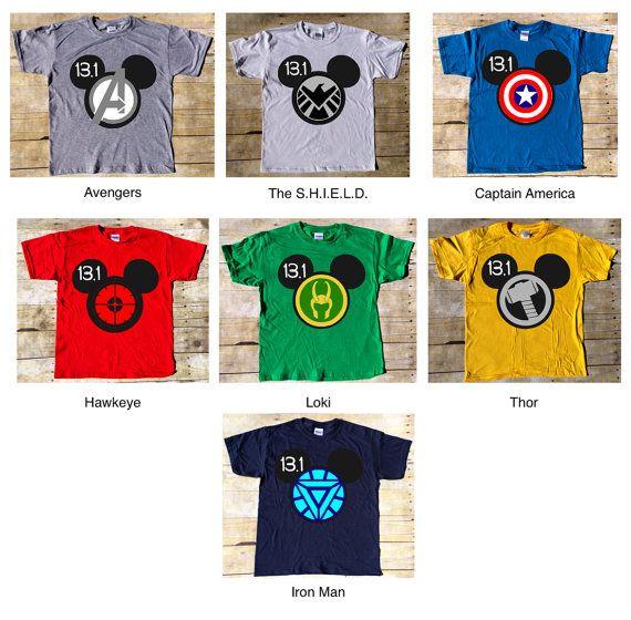 Disneyland Avengers Superhero Half Marathon t-shirt #SmashtheHalf. Avengers, Captain America, Hawkeye, Loki, Thor, Iron Man and S.H.I.E.L.D.