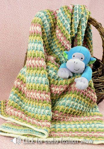 Slip Stitch Knitting Baby Blanket Pattern : Mirbeau Slip Stitch Baby Blanket By Brenda Lewis - Free Crochet Pattern - (na...