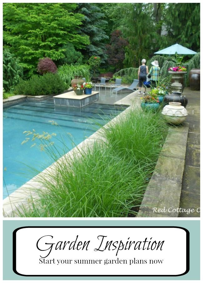 January is a great time to get started planning your summer flower garden.  Here is some Garden inspiration to help get you started!  www.redcottagechronicles.com