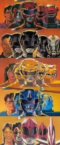 From the old Power Rangers toy boxes