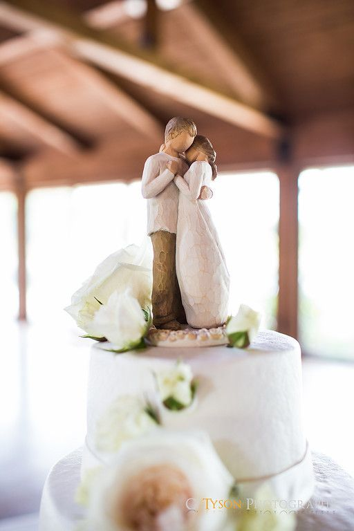 Willow Tree cake topper. I collect these and I never even thought of that!