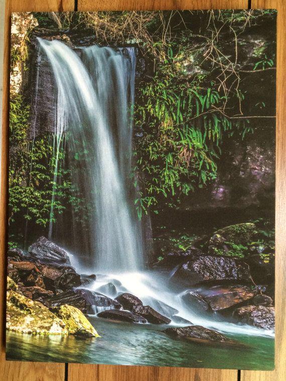 Waterfall  Mount Tamborine by KerrisPhotosOnCanvas on Etsy