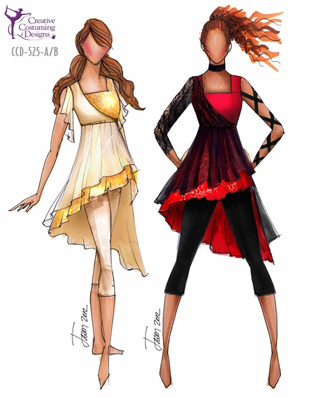 Creative Costuming & Designs These would have been PERFECT for my show this years, the entire angels versus demon thing!!
