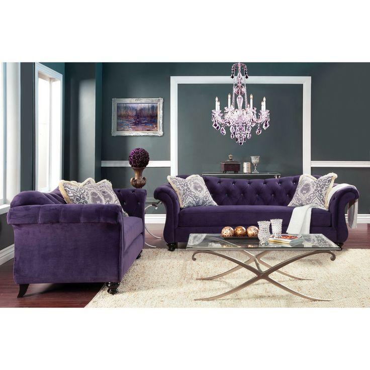 Furniture Of America Agatha 2 Piece Tufted Sofa And Loveseat Set By  Furniture Of America
