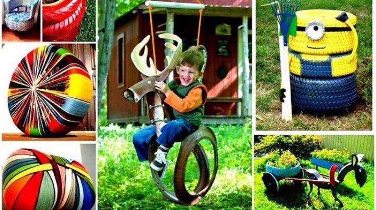 15 Ideias para Reciclar Pneus Velhos