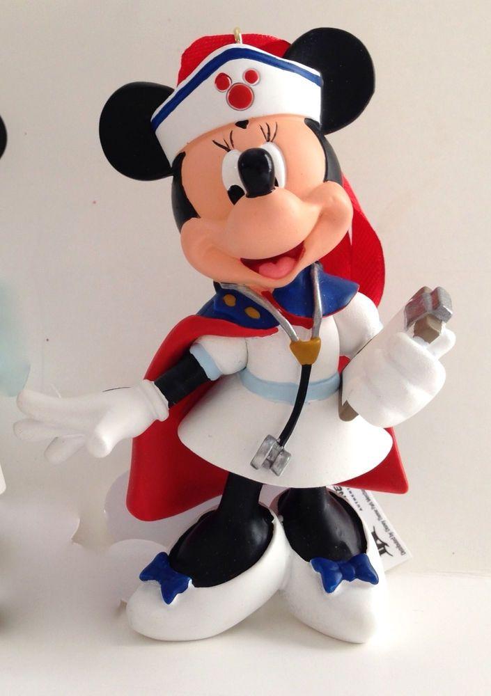 Disney Parks Minnie Mouse Classic Vintage Nurse Figurine Ornament