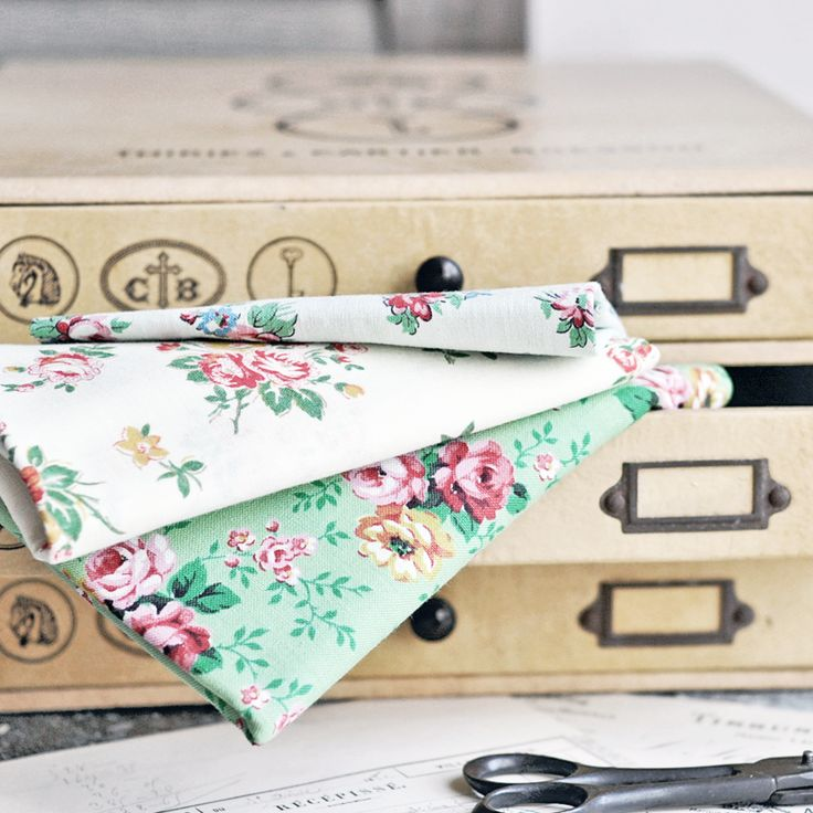 Vintage French floral fabrics