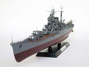 """IJN Tone - Model japońskiego ciężkiego krążownika, typu Tone. Długość modelu 58 cm. Model plastikowy z elementami fototrawionymi, ręcznie złożony i ręcznie pomalowany w skali 1:350.   """"IJN Tone"""" (101945) - this is model of Japanese heavy cruiser, the type of Tone. Lenght 58 cm (centimetres). Plastic models with metal elements, hand-glued and hand-painted in 1:350 scale models."""