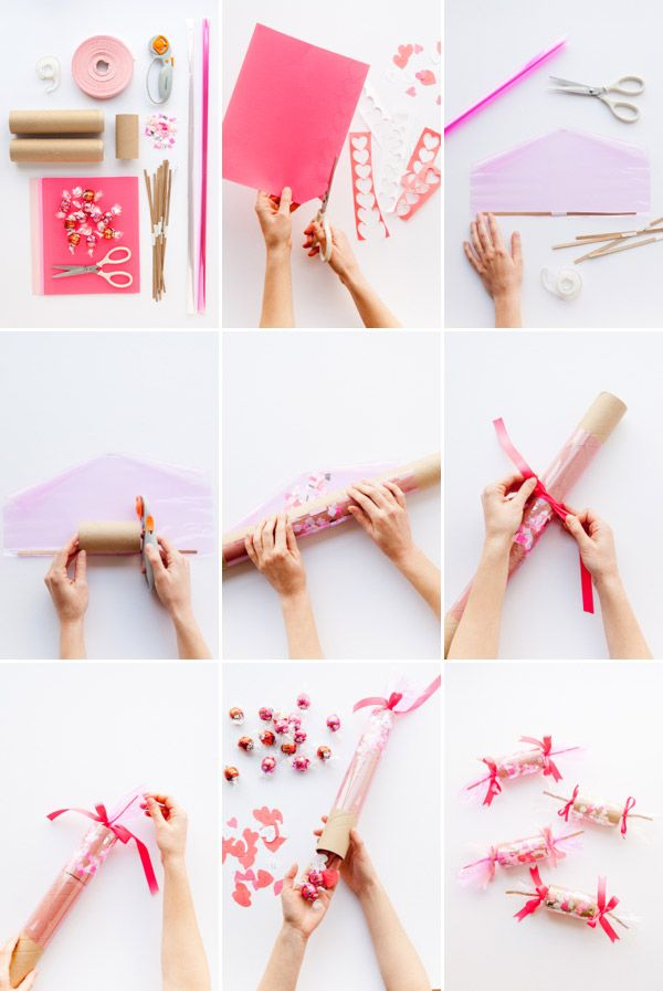 Valentines Confetti Crackers DIY