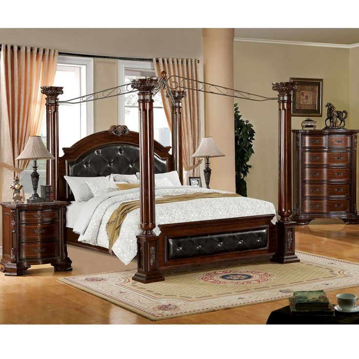 canopy bed against the - photo #3