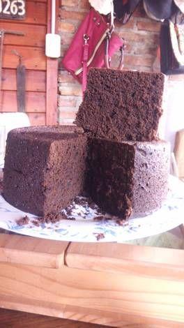 Torta con harina de algarroba en microondas