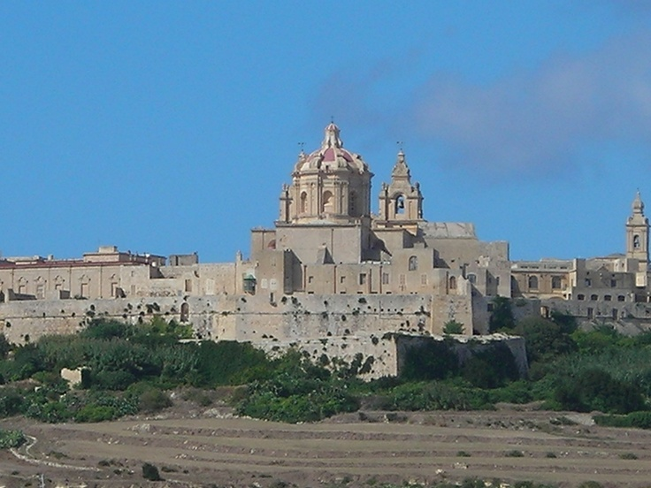 Medina, Malta a medieval walled town situated in the middle of the island
